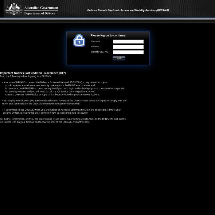 Dreams10.Defence.gov.au
