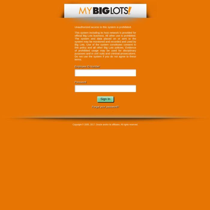 MyBigLots.net