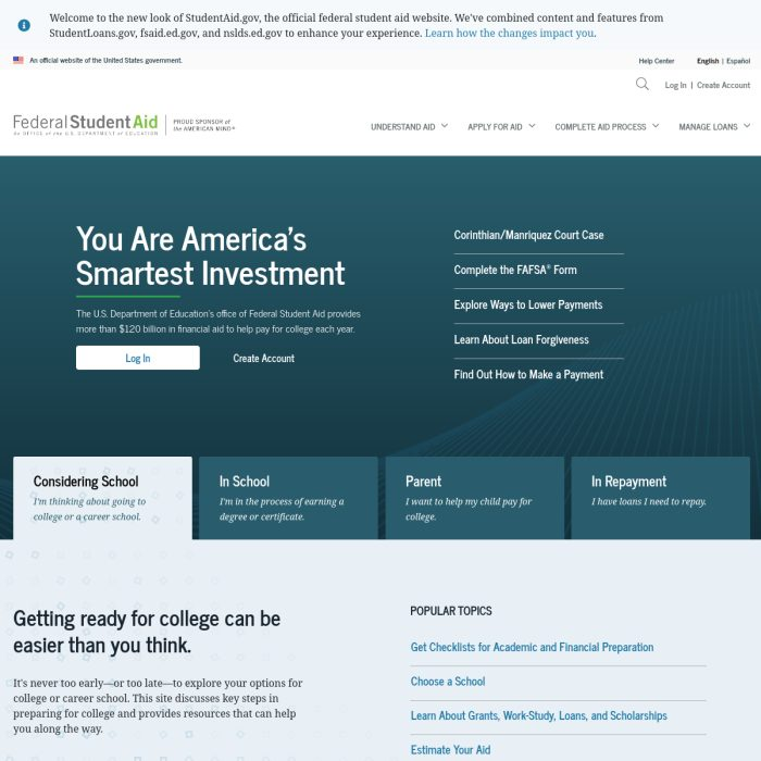 StudentAid.gov