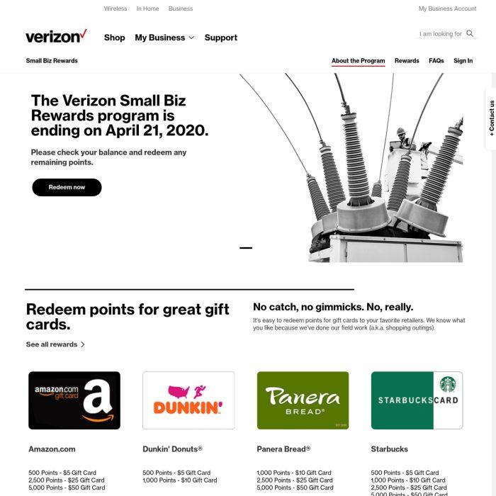 smallbizrewards.verizon.com