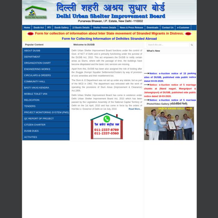 www.DelhiShelterBoard.in