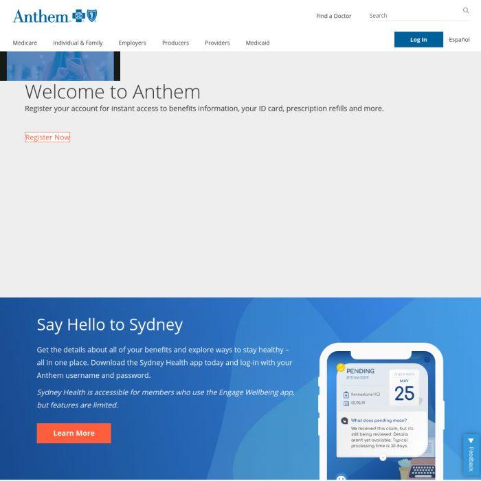 ️ Anthem.com - Health Insurance, Medicare, & Group Health ...