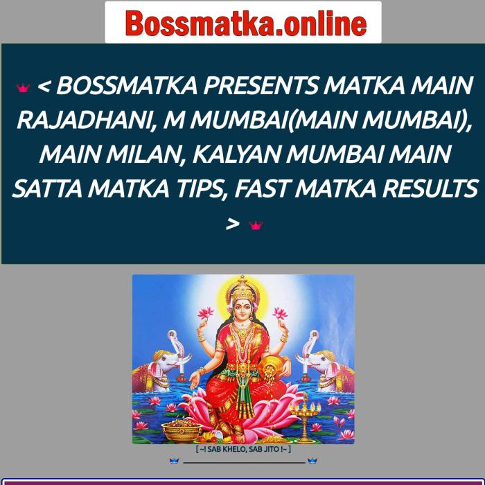 BossMatka.online