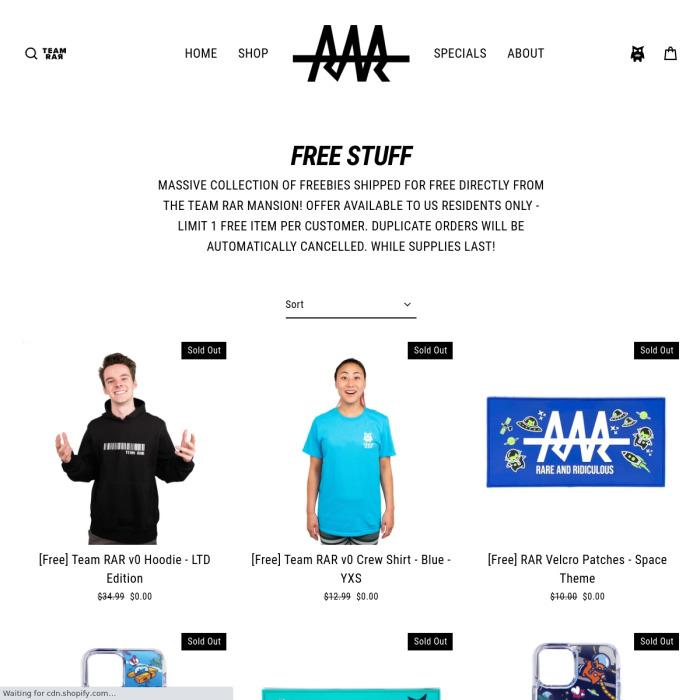 FreeStuff.TeamRar.com