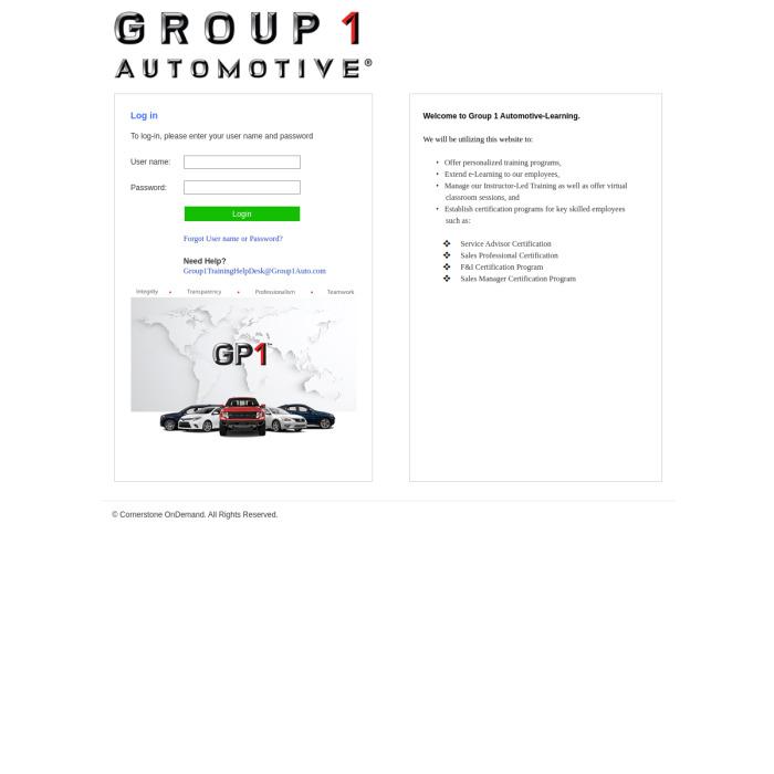 Group1Auto.CSOD.com