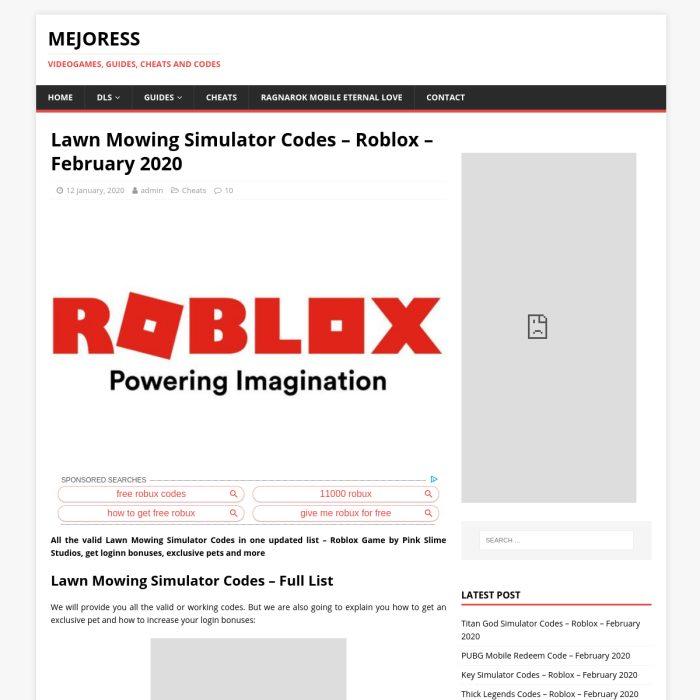 Lawnmowingsimulatorcodes Wiki Lawn Mowing Simulator Codes Wiki