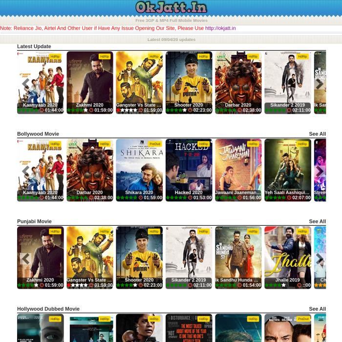 🗄️ OKJatt.site - OK Jatt Website   Free 3GP & MP4 Full