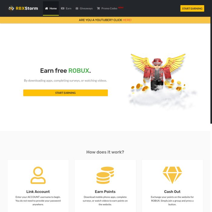 codes rbx robux earn promo storm completing gamers tasks watching playing start simple games way
