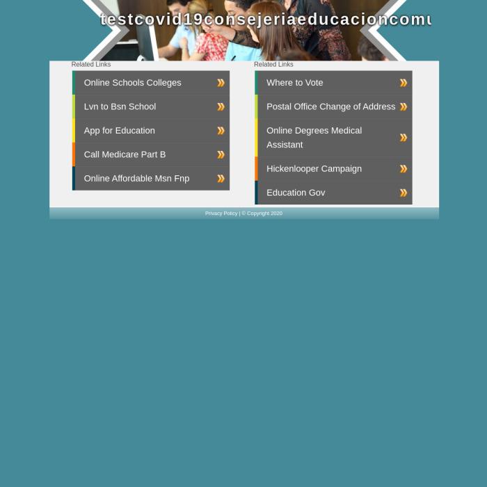 TestCOVID19ConsejeriaEducacionComunidad.com